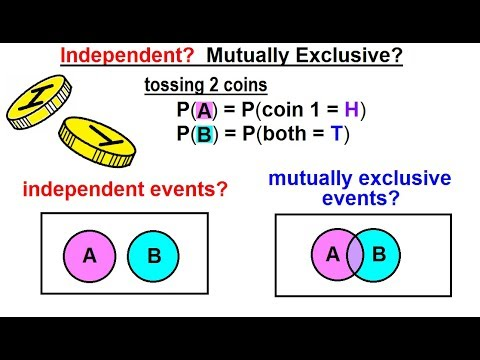 Statistics: Ch 4 Probability In Statistics (40 Of 74) Independent? Mutually Exclusive?