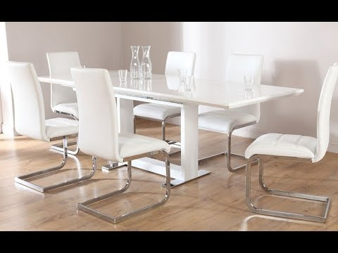 White Dining Table Gloss Marble