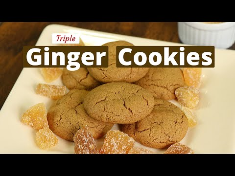 Triple Ginger Cookies That Are Soft & Chewy | Gluten Free | Rockin Robin Cooks