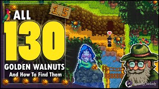 Where To Find AĻL 130 Golden Walnuts in Stardew Valley 1.5 Update | How To Solve The New Puzzles