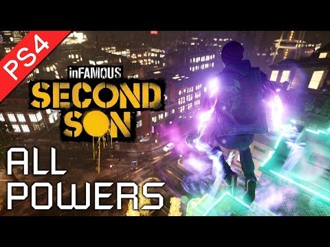 Infamous: Second Son ★ All Powers Showcase / All Powers and Abilities (1080p HD)