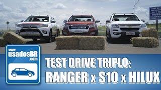Teste Triplo: Ranger x S10 x Hilux
