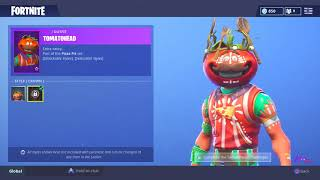 *NEW* SHOP UPDATE - CUSTOMIZABLE TOMATO HEAD SKIN! FORTNITE BATTLE ROYALE