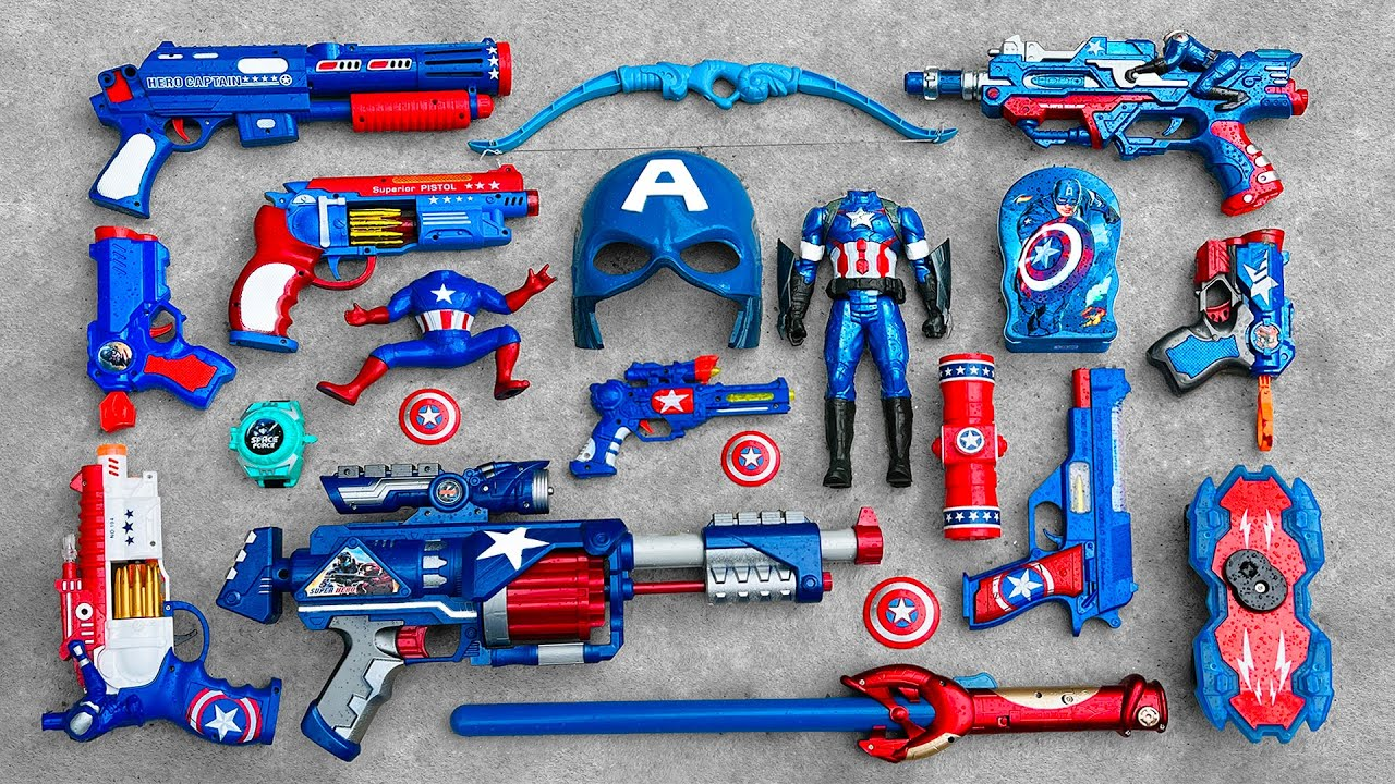 Download Captain America Action Series Guns & Equipment,Bow & Arrow, Revolvers, Realistic Avengers Characters