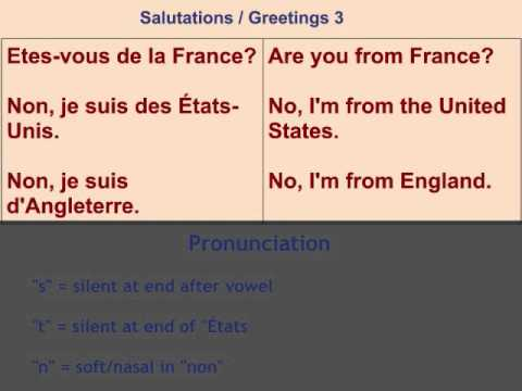 French lesson 1 greetings youtube french lesson 1 greetings m4hsunfo