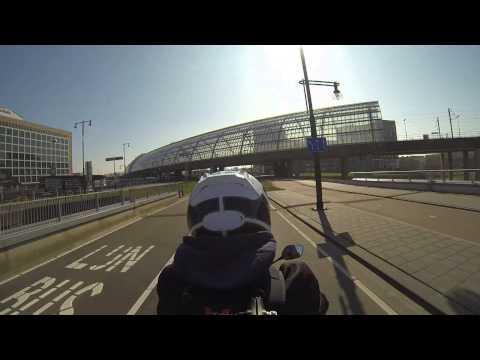 Honda cbr500r 3rd person view Amsterdam motorcycle ride GoPro hero 3