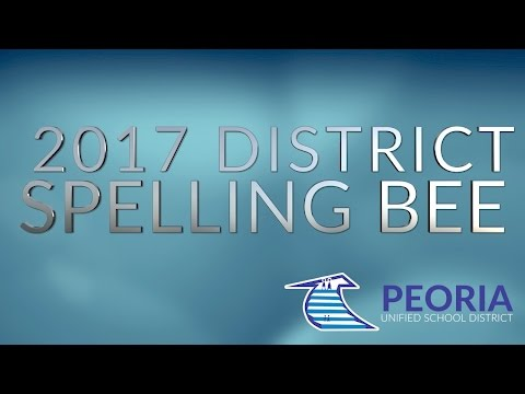 2017 Peoria Unified District Spelling Bee