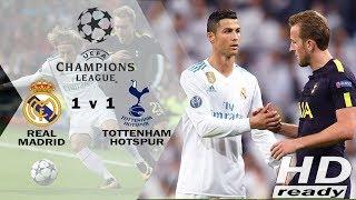 Real Madrid vs Tottenham 1-1 UCL - Penalti Ronaldo Selamatkan Madrid   Highlights & Goals 18-10-2017