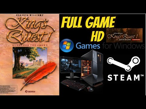 King's Quest I: A Quest For the Crown AGD VGA Remake Gameplay Walkthrough NO COMMENTARY