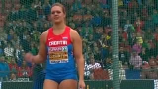 Sandra Perkovic (CRO) 71.08 Discus Throw Zurich 2014