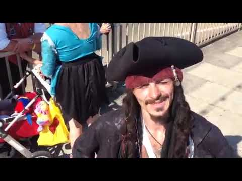 Merjin Faery,s  Pirate Day Special in Penzance Cornwall