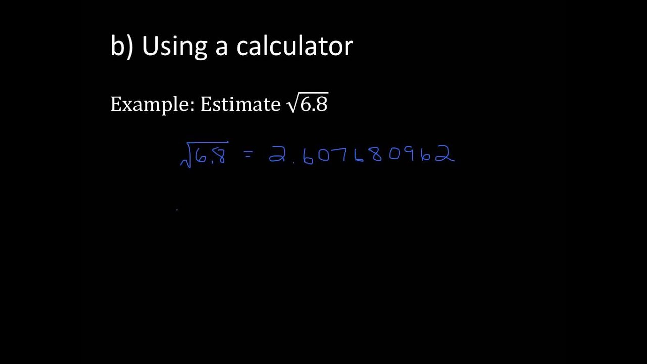 Estimating Square Roots of Non Perfect Squares - YouTube