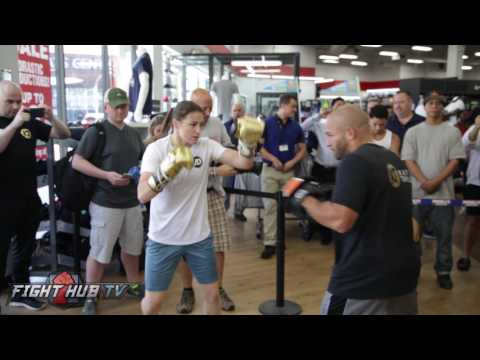 KATIE TAYLOR IS THE TRUTH! POWER, SPEED TECHNIQUE ON THE MITTS!