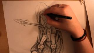 Viking Woman Drawing