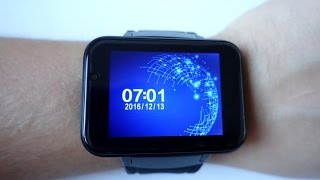 "Domino DM98 3G Smartwatch with a huge 2.2"" inch screen Unboxing & First run (Video)"