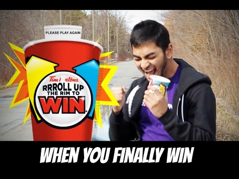 Tim Hortons Roll Up The Rim To Win Contest (When You Finally Win The Winning Cup!!)
