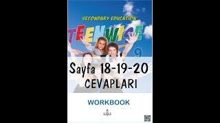9.Sınıf İngilizce Çalışma Kitabı Cevapları Sayfa 18-19-20 MEB 2018-2019