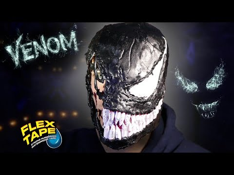 How To Make a Glowing VENOM MASK Out Of Flex Tape and Flex Seal!!!