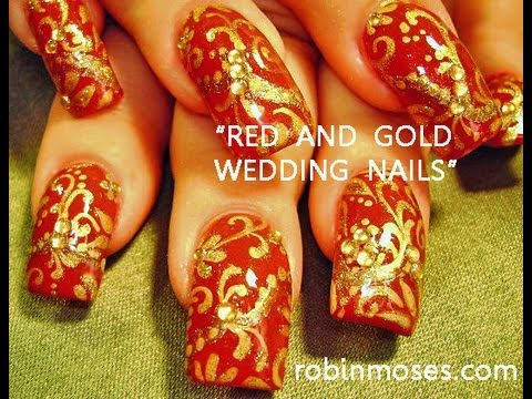 #inspiredbyrobinmoses #nailart #robinmoseswizards - Indian Wedding Nail Art - YouTube