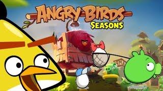 Angry Birds Seasons - SUMMER CAMP (Walkthough) - Levels 1- 5