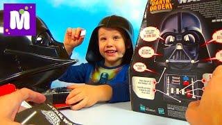 Говорящий Шлем Дарта Вейдера Звёздные Войны распаковка Speaking Darth Vader Helmet Star Wars