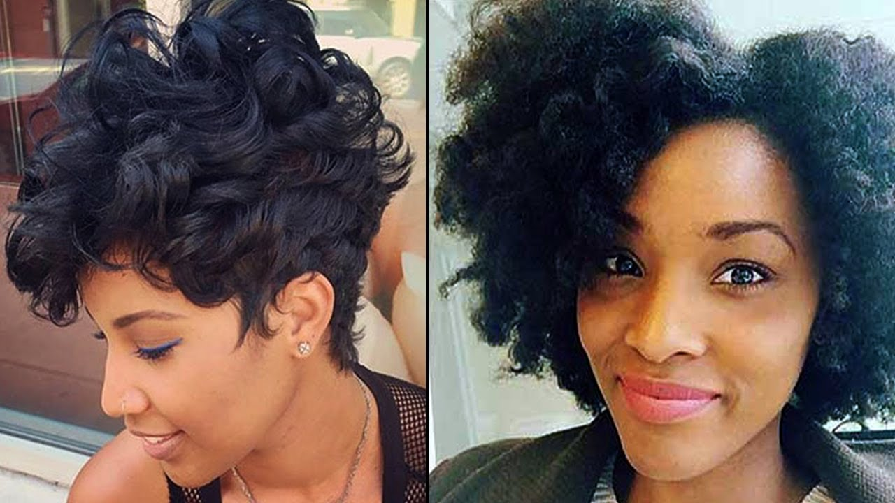 short afro hairstyles black