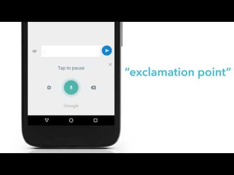 Voice Dictation:  Android