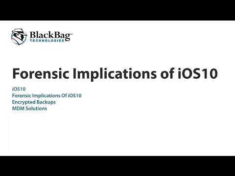 Webinar: Implications of iOS 10 on Mobile Forensics
