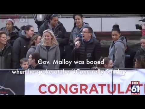 Connecticut Dem Gov. Dan Malloy Booed at UConn Rally