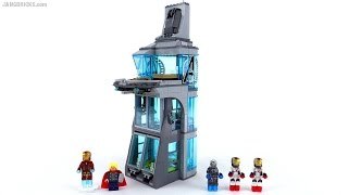 Lego Super Heroes Attack On Avengers Tower Review! Set 76038