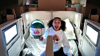 Lol Pearl Surprise! Business Class Double Bed Airplane Flight | Toys Andme
