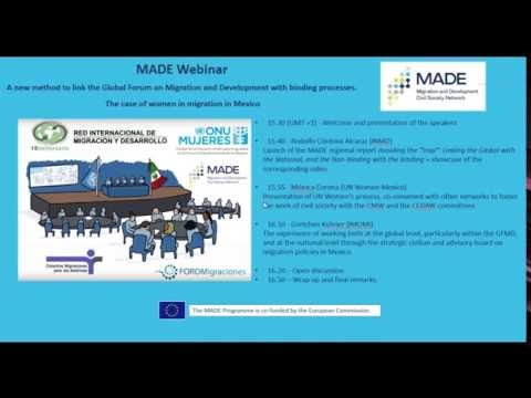 MADE Webinar - A new method to link the GFMD with binding processes...