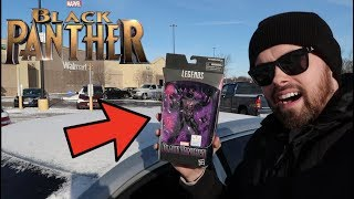 TOY HUNTING FOR WALMART EXCLUSIVE BLACK PANTHER MARVEL LEGEND!! (FOUND) FUNKO MYSTERY MINI UNBOXING