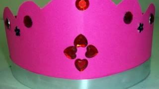 How to make posterboard crown - EP - simplekidscrafts