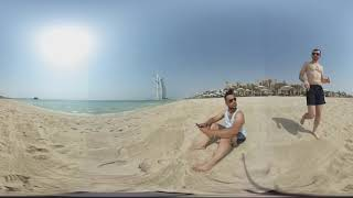 Silas and Mateus at Burj Arab - Dubai