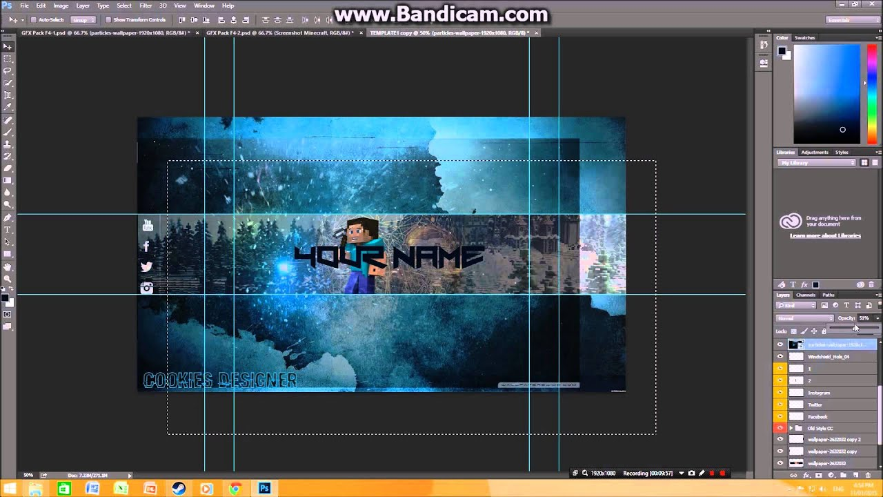 minecraft banner channel art template free download youtube