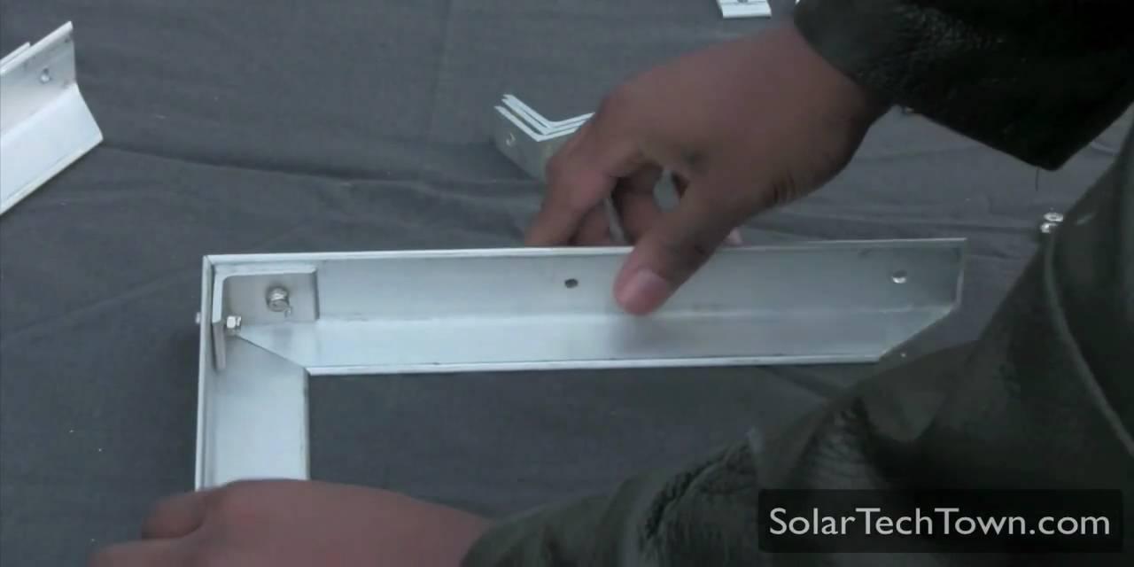 How To Build An Aluminum Frame Solar Panel Part 2 3