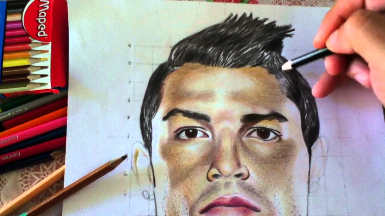 Dibujando A Cristiano Ronaldo By Ulises Guevara Es Youtube