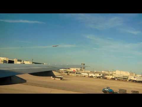 American Airlines Boeing 777-200ER landing at Miami International Airport