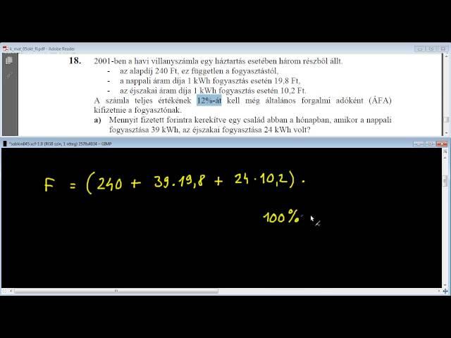 18/a Feladat - Egyenletek