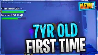 Playing Fortnite With my 7YR OLD Son First time!