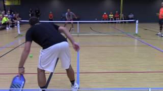 International Indoor Pickle Ball Tournament 2016, Mens Singles Open Gold Medal Match Game 1(, 2016-05-19T15:58:49.000Z)