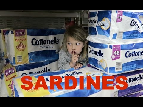 SILLY SARDINES AT WALMART | HIDE AND SEEK!