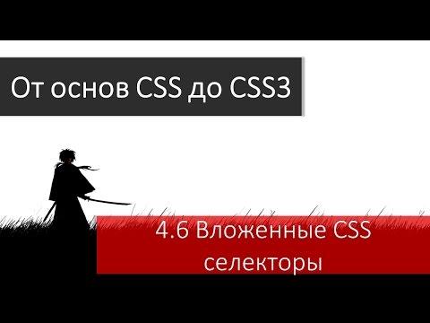 Верстка макета. Вложенные HTML элементы и вложенные CSS селекторы.