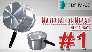 Tutorial 3ds Max | Material de Metal Mental Ray - Parte 01