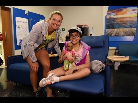 CoCo Vandeweghe Visits Miami Children