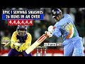 Sehwag destroys Sri lanka - 26 runs in an over. 4,4,6,4,4,4(Extended)