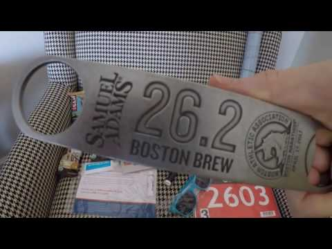 Boston Vlog - I met Bart Yasso, Marathon Expo Swag & Vegan Bagels
