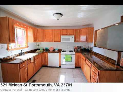 Nice Home For Sale In Portsmouth, Va. 3 Bedroom, 1 Bath Located At 521 Mclean St. Priced Right At $1