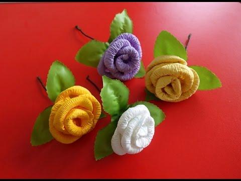 Easy Napkin Rose Tutorial ~ Tissue Paper Roses ~ Valentine Rose ~ Instructions ~ DIY Room Decor ...